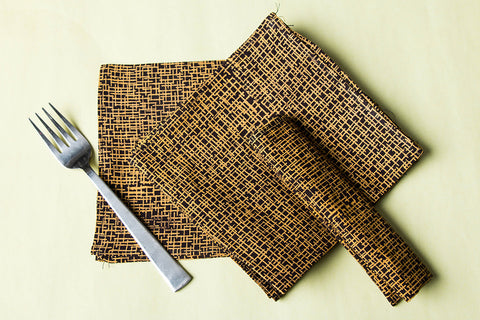Rang Bahar Block Print Cotton Table Napkins (Set of 6)