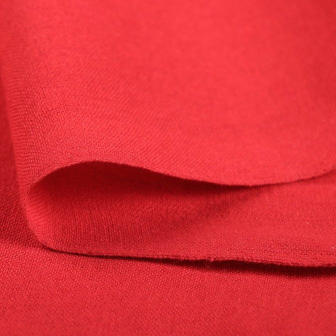 Bright Red - Jhiri Pure Handloom Cotton Fabric (Width - 48in)