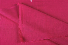 Organic Kala Cotton Pure Handloom Dark Pink Buti Fabric