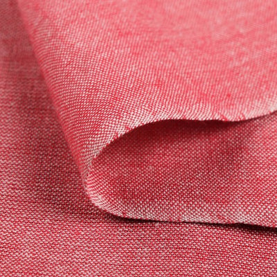 Light Red Pink - Jhiri Pure Handloom Cotton Fabric (Width - 48in)