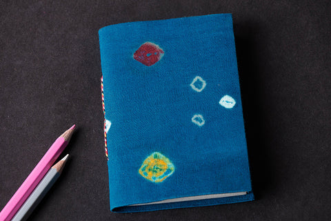 Bandhani Cover Handmade Ruled Paper Notebook 5in x 3.5in