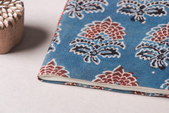 Ajrakh Fabric Cover Handmade Ruled Paper Diary ( 9in x 7in )