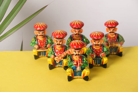 Handpainted Wooden - Musician Bawla (Set of 6)