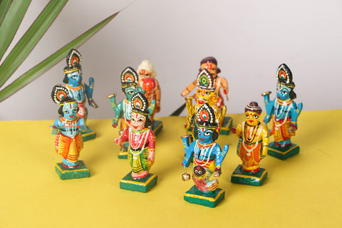 Handpainted Wooden - Dashavatar (Set of 10)
