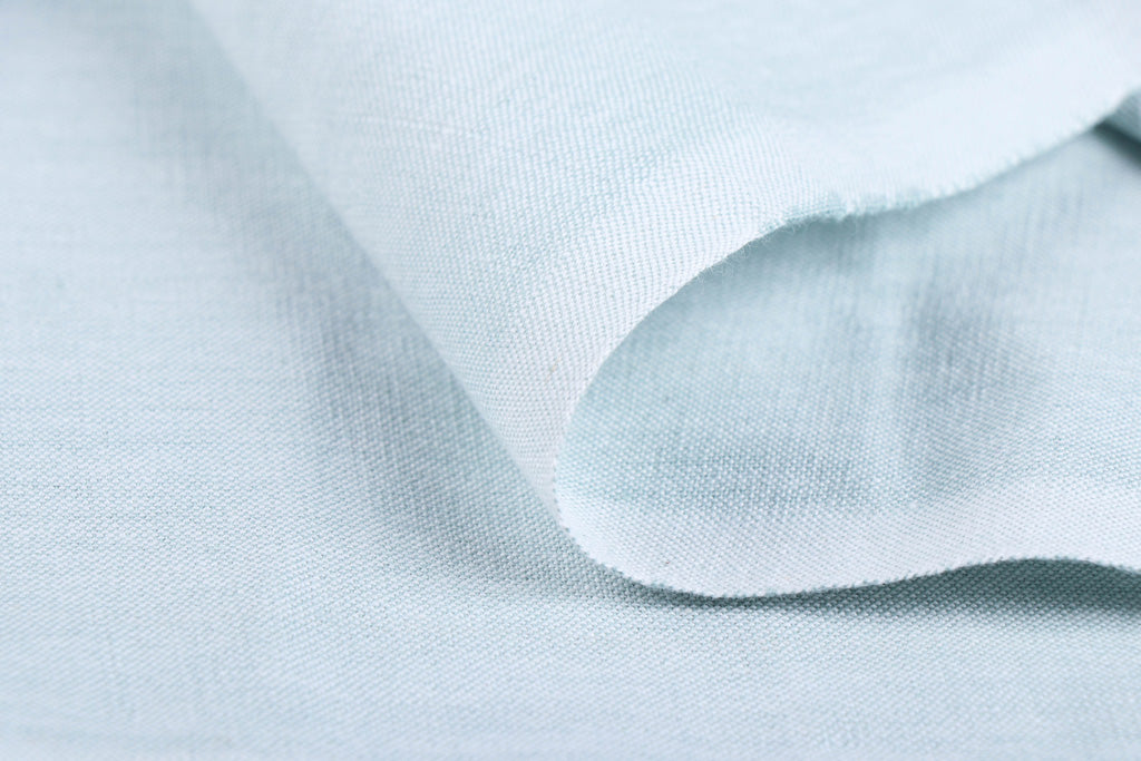 Baby Blue - Jhiri Pure Handloom Cotton Fabric (Width - 48in)