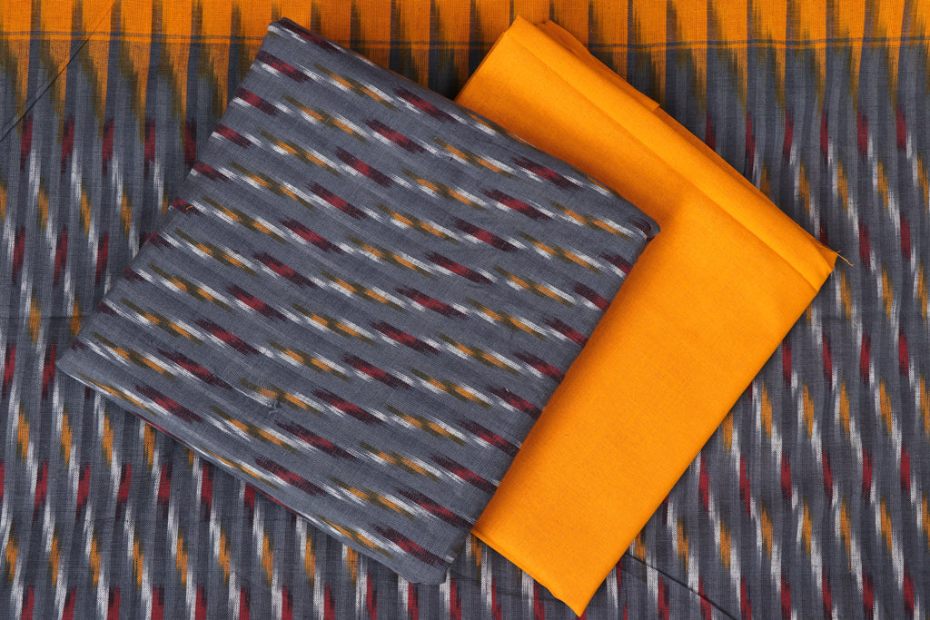 Pochampally Ikat Cotton 3pc Suit Material Set