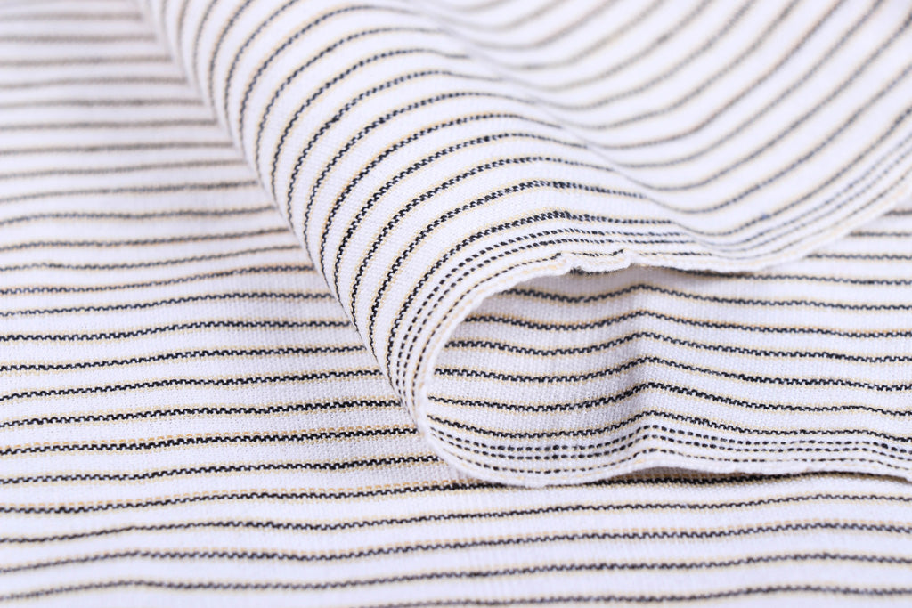 White - Jhiri Pure Handloom Cotton Fabric (Width - 48in)