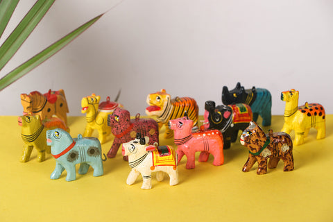 Handpainted Wooden - Tiny Animals (Set of 12)