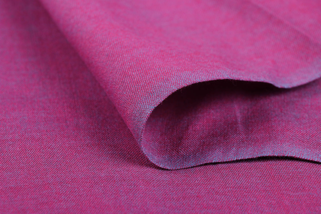 Royal Fuchsia - Jhiri Pure Handloom Cotton Fabric (Width - 48in)