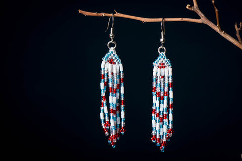 Neemuch Handmade Beadwork Earrings by Pushpa Harit