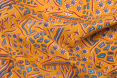 Special Kalamkari Block Printed Cotton Fabric in Sanganari Colors