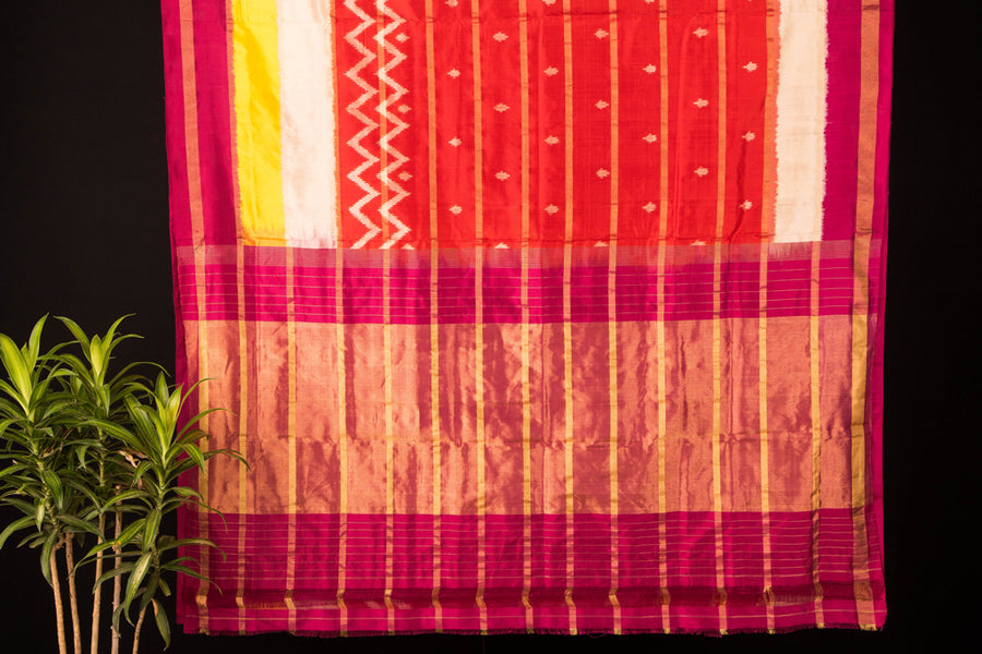 Uppada Pattu Silk Ikkat Pure Handloom Saree