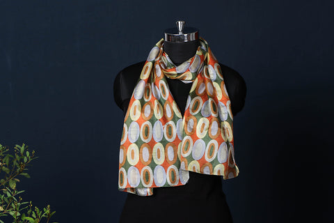 Farrukhabad Screen Printed Silk Stole
