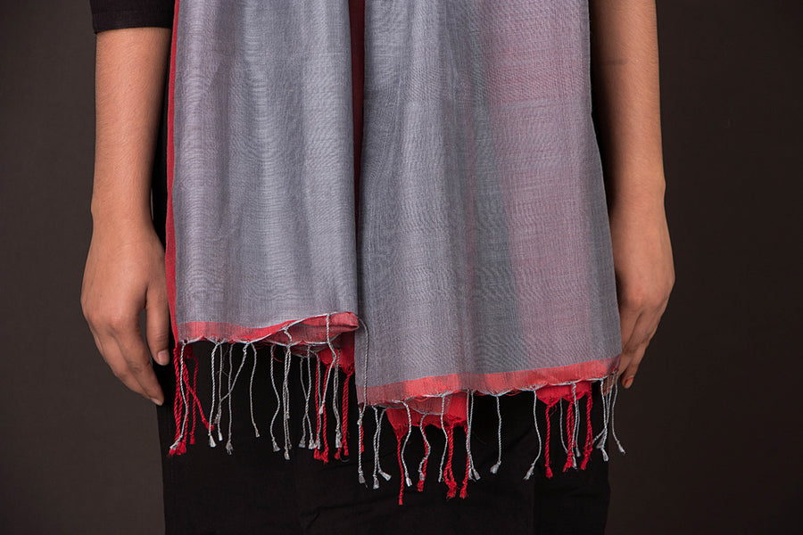 Handwoven Silk Woolen Stole from Nadia