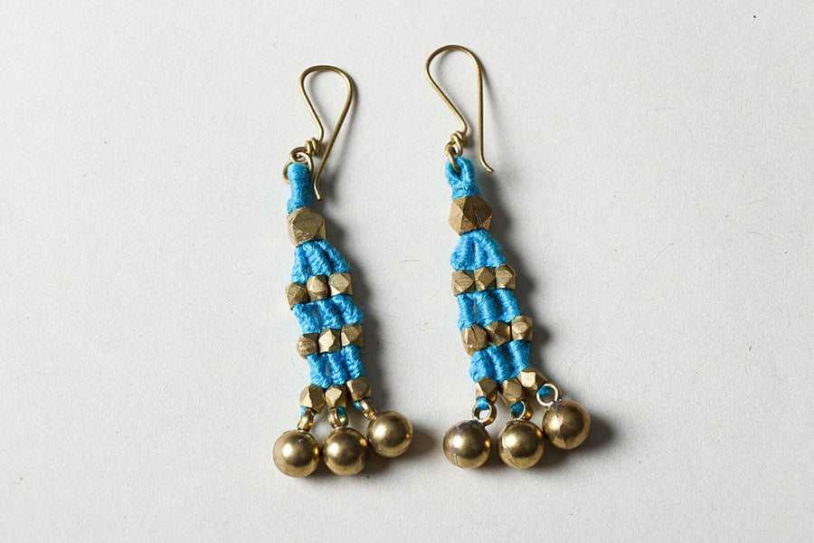 Tribal Odisha Dhokra Threadwork Earrings