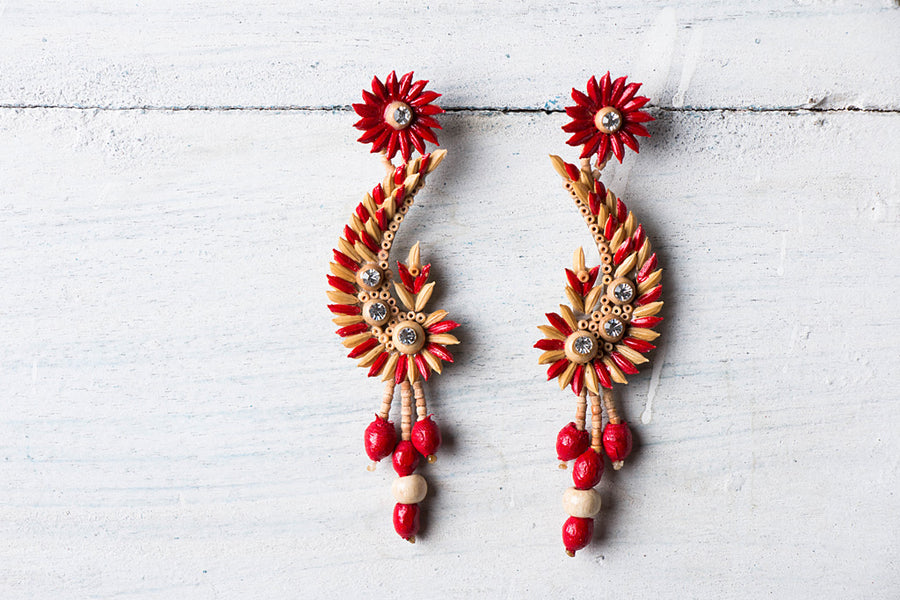 Handcrafted Rice Paddy Earrings by Putul Das Mitra