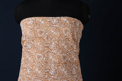 Lucknow Chikankari Embroidered Gota Patti Cotton Kurta Material