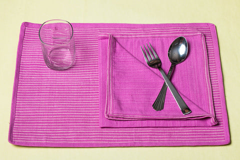 Aha Vastra! Dining Mats with Napkins (Set of 12)