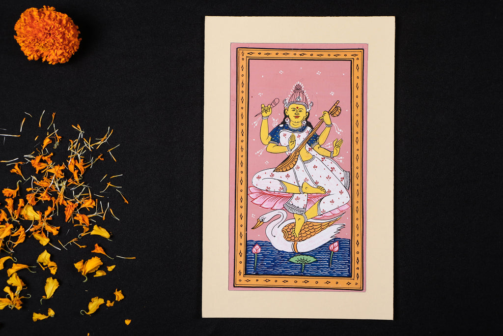 Patachitra Painting on Handmade Paper (27cm x 17cm)