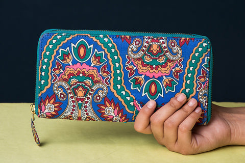 Jaipur Multicolour Printed Cotton Clutch by Nidhi