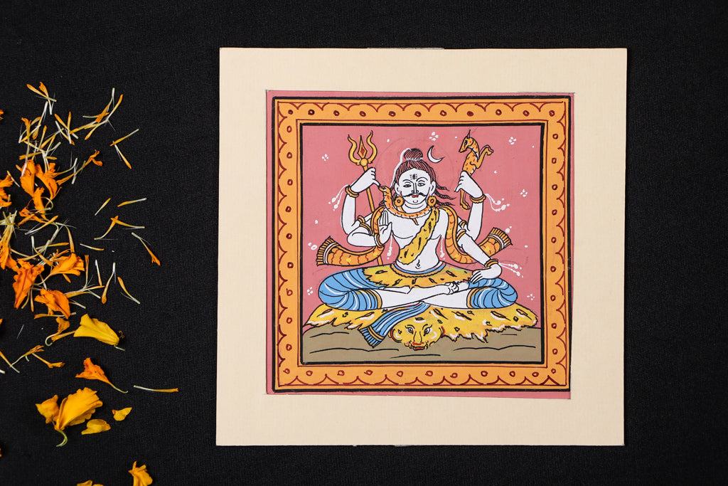 Patachitra Painting on Handmade Paper (15cm x 15cm)