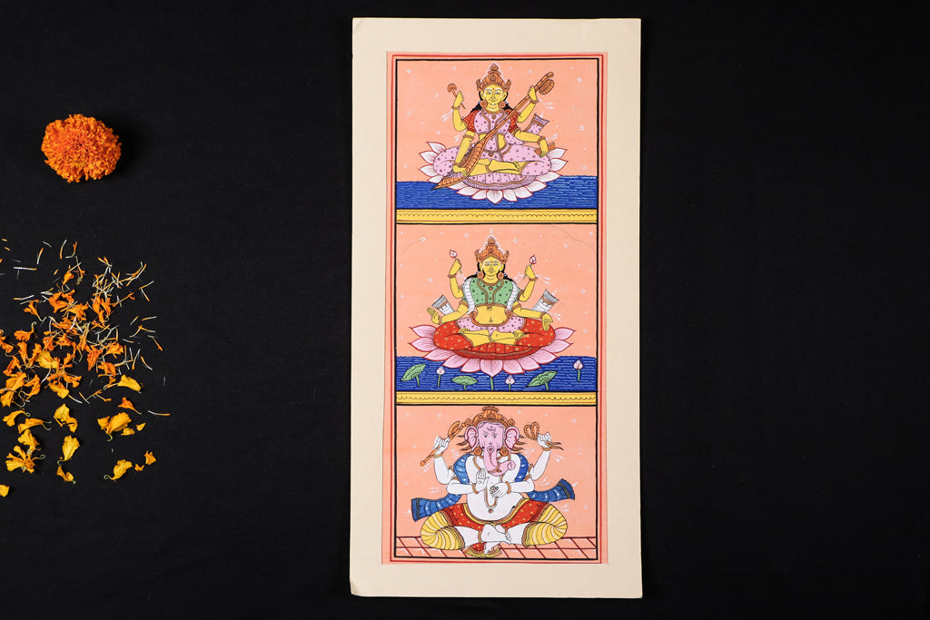 Patachitra Painting on Handmade Paper (44cm x 22cm)