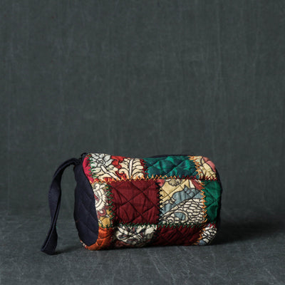 Handpainted Kalamkari Natural Dyed Cotton Patchwork Multipurpose Pouch
