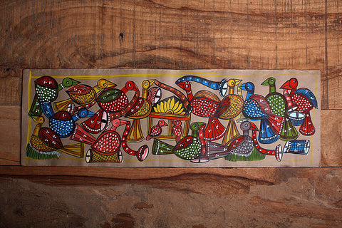 22in x 7in - Traditional Patua Painting by Laltu Chitrakar