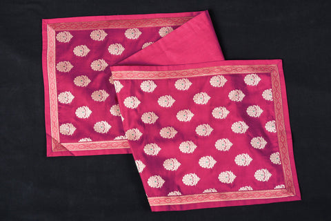 Traditional Pure Banarasi Handwoven Silk Zari Table Runner