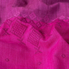 Kashida Stitch Pure Handloom Cotton Kurta Material by Urmul (3 metres)