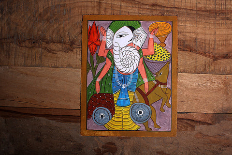 14in x 11in - Traditional Patua Painting by Laltu Chitrakar