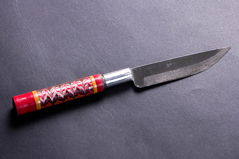 Handmade Lacquered Wooden Handle Steel Knife
