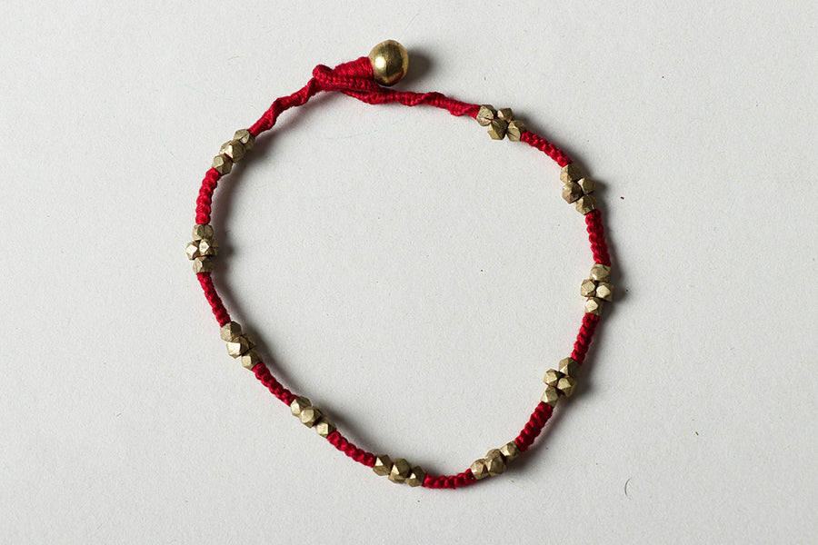 Tribal Odisha Dhokra Threadwork Anklet