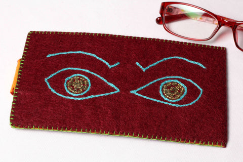Eye-Glass Case - Angry