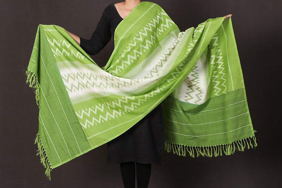 Pochampally Ikat Cotton Handloom Dupatta