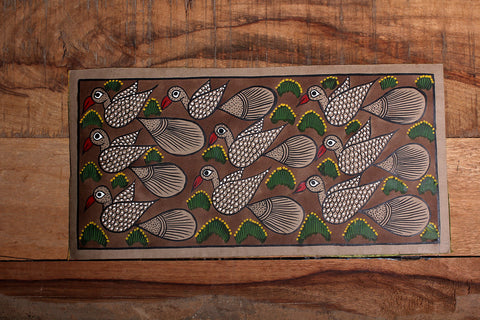 14in x 7.5in - Traditional Patua Painting by Laltu Chitrakar