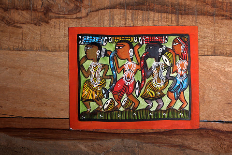 9in x 7in - Traditional Patua Painting by Laltu Chitrakar