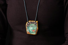 Kerala Mural Hand Painted Slate Stone Necklace