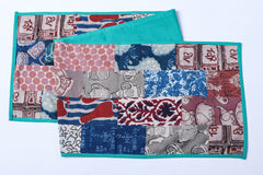 Bindaas Block Printed Patchwork Cotton Table Runner