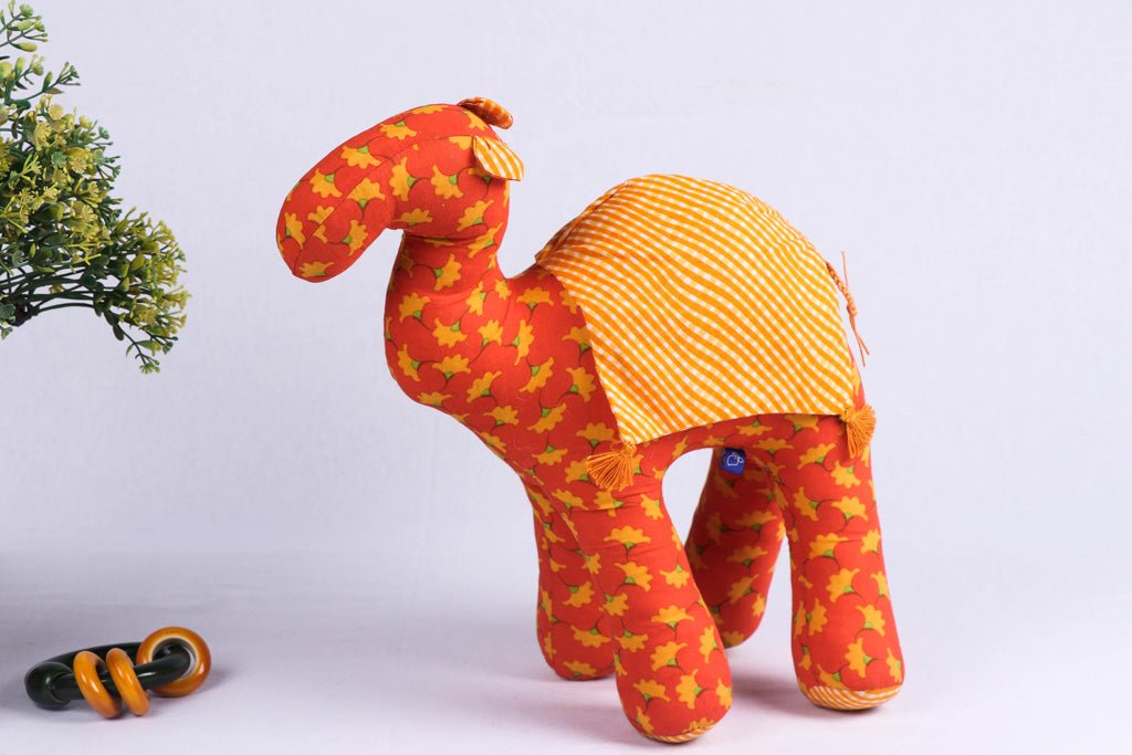 Handmade Blue Mango Stuffed Toy - Camel