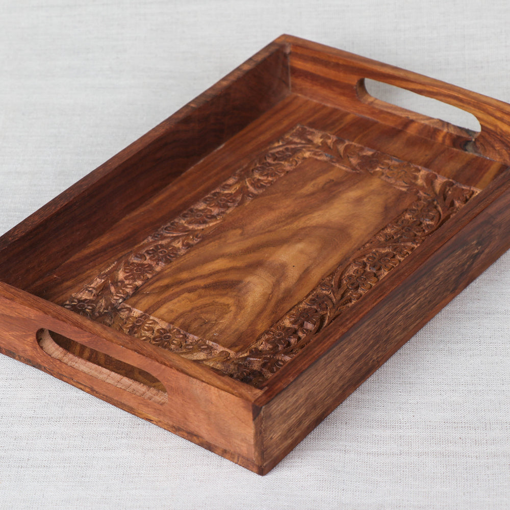 Tray- Handcrafted with Sheesham Wood