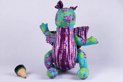 Handmade Blue Mango Stuffed Toy - Dragon