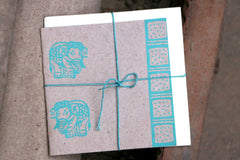 Block Printed Greeting Card