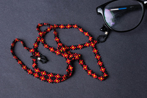 Hapur Flower Beadwork Spectacle Lanyard/Chashma Dori by Aagaz
