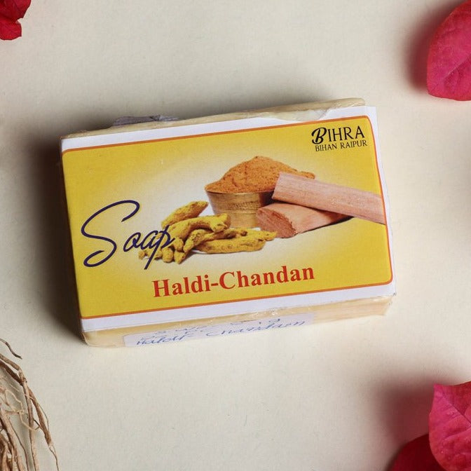 Bihra Handmade Natural Haldi Chandan Soap (100gm)