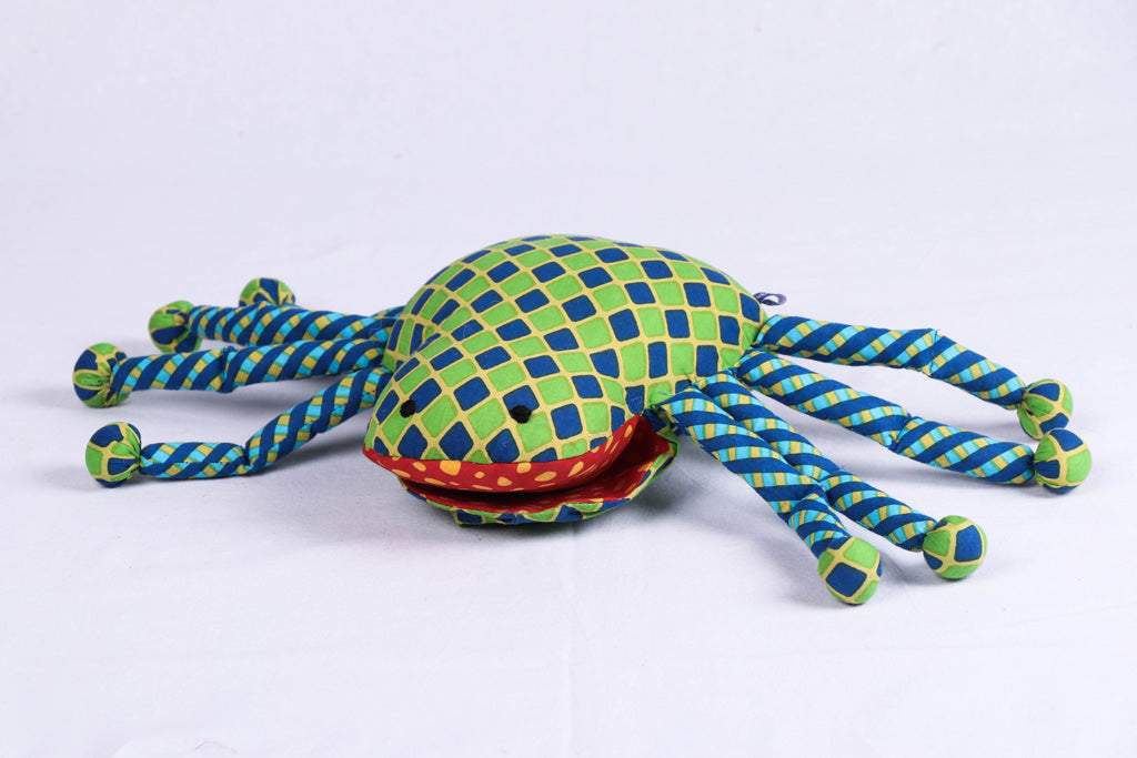 Handmade Blue Mango Stuffed Toy - Spider Puppet