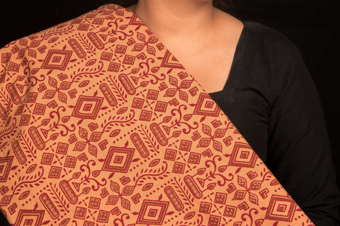 Block Printed Cotton Fabric by Fakruddin