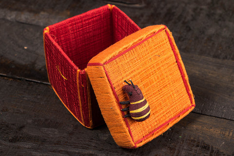 Handmade Coir Jewelry Box - Ant