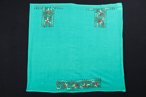 Bengal  Kantha Embroidery Work Pure Cotton Blouse Piece