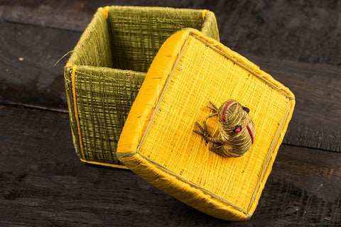 Handmade Coir Jewelry Box - Frog